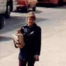 Roncesvalles Loop, bringing home the groceries, Toronto, 1980